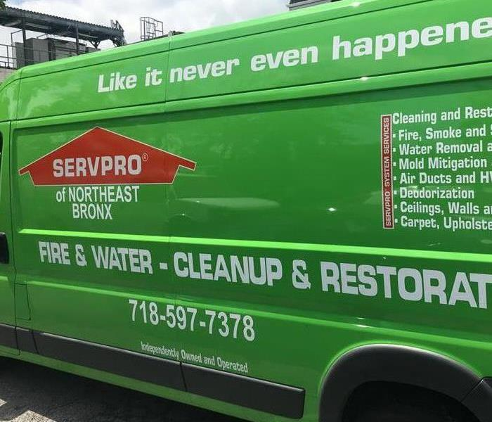 SERVPRO of Northeast Bronx cleaning up on a commercial water loss Before