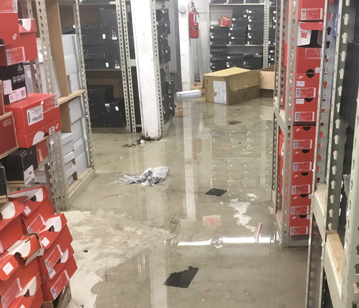 Stock room flooded in Bronx After
