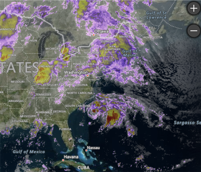 Storms headed for the East Coast
